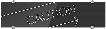 Basic Black Premium Brushed Aluminum Sign 24x6 5-Pack CGSignLab Caution
