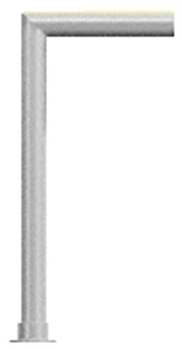 C.R. LAURENCE SG925BS CRL Brushed Stainless Elegant Series Glass on Front and Top Shelf Sneeze Guard - Right Hand End Post Only