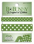 - Bo Bunny Double Dot Double-Sided Grosgrain Wrapped In Ribbon, Clover