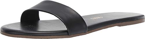 (TKEES Women's Alex Slides, Black Stone, 9 M US)