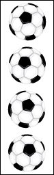 Soccer Ball - Mrs Grossmans Sticker Strips
