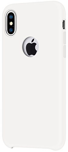 Lopie [Dust-free Series] Silicone Case Cover for Apple iPhone X (5.8 inches) - Soft - Mobile Silicone White