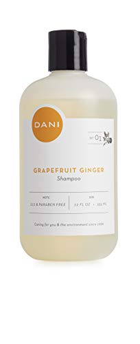 DANI Naturals Daily Shampoo - Paraben, Phthalate & Sulfate Free - Organic Ingredients, PH Balanced with Aloe Vera - Grapefruit Ginger Scented - Vegan & Cruelty Free - 12 Ounces
