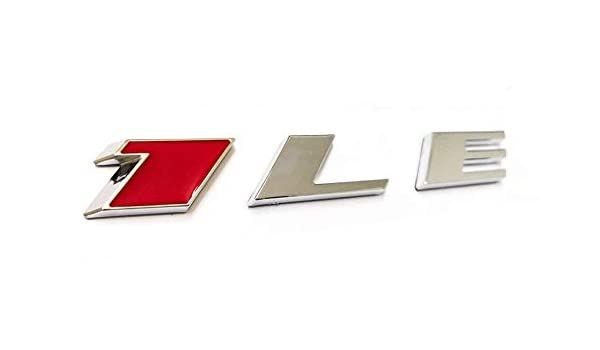 1x Chrome Black 1LE Emblem Badge Nameplate Letter Rear Side Replacement for Camaro 1LE Door
