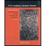 TI-83 Graphing Calculator Manual for IPS, Moore, David S. and Neal, David K., 0716763648