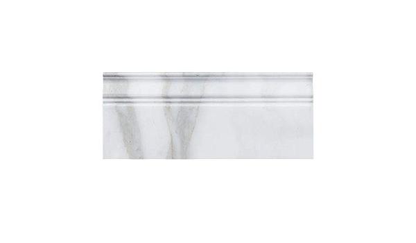 Calacatta Gold Italian Marble Baseboard Molding Polished
