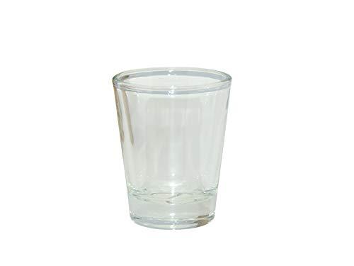 (12 Pcs. BLANK SUBLIMATION CLEAR SHOT GLASSES 1.5oz HEAT TRANSFER )