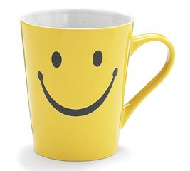 1 X Smiley Happy Face 14 oz Stoneware Coffee Mug/Cup (Face Gifts Smiley)