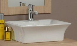 Lavabo d appoggio per mobile bagno rettangolare amazon fai da te