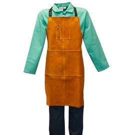 Stanco Safety Products Size 24'' X 36'' Gold Leather Bib Apron (4 Pack)