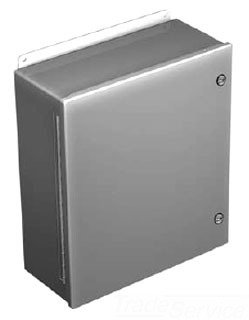 Hoffman A808CHFL Steel J-Box, NEMA 4 with Quarter Turn Latch, 8'' x 84'', Gray
