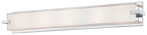 George Kovacs P5217-077, ADA Sconces, 5 Light Bath Fixture, Chrome (Small Ada Sconce)