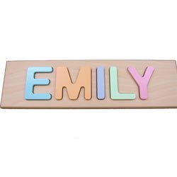 child s personalized pastel name puzzle puzzles amazon canada