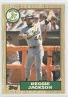 1987 Topps Traded Baseball (Reggie Jackson (Baseball Card) 1987 Topps Traded - [Base] - Tiffany #52T)