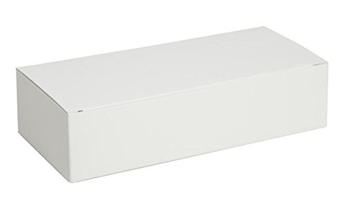 1 lb. White Auto Bottom Candy Box - Case of 250 (White Box Candy)