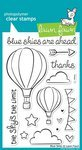 Lawn Fawn Clear Stamps-Blue Skies