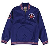 - Chicago Cubs Mitchell & Ness MLB Men's 1/4 Zip Nylon Pullover (Small)