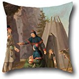 [Pillowcover Of Oil Painting Pehr Hilleström - The Costumes Of The Lapponians,for Family,father,floor,christmas,couch,teens Boys 20 X 20 Inches / 50 By 50 Cm(twice] (Tigger Costume Teenager)