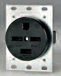 Eaton 8450N 50 Amp 250V 15-50 3-Pole/4-Wire Power Receptacle