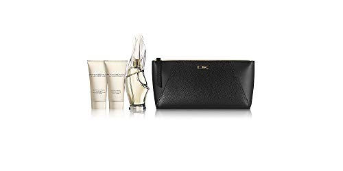 Donna Karan Cashmere Mist 4pc Set: 3.4 oz Eau de Parfum Spray + Body Creme + Body Cleansing Lotion + Travel Bag
