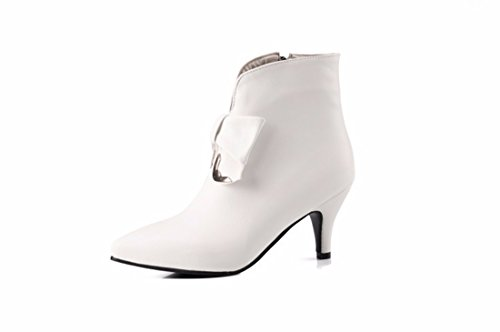 Grandes golpes de invierno y otoño, Martin botas, coreano y tazas de metal de punta de damas botas cortas white