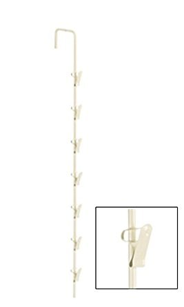 New Beige Metal Spring Clip Merchandiser Strips with 7 Hook 20'' L