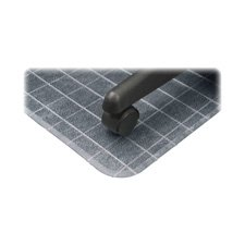 Deflect-O Rectangular Checkered Chair Mats, No Lip, 46 by 60-Inch, (Chair Mat Rectangular Beveled Edge)