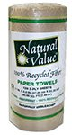 Natural Value 100% Recycled Fiber 2 Ply Paper Towels, (Pack of ()