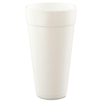 Dart White Foam Cups 24 OZ (25 count) (20 Oz Styrofoam Cups)