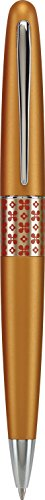 Pilot MR Retro Pop Collection Ball Point Pen, Orange Barrel with Flower Accent, Medium Point, Black Ink (91423) Modern Design Ball Point Pen with Retro Patterns, Stainless Steel Nib, Refillable ()