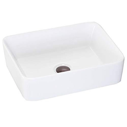 Lenova PAC-06 Porcelain Above Counter Rectangle Sink, White
