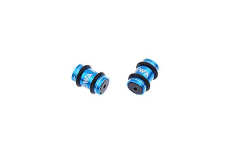 MOWA Aluminum Alloy Road Mountain Bike Bicycle frame Protector Derailleur Cable Spacer Donuts (Blue) Cable Spacer