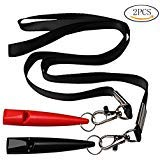 Fashion Road 2 Pcs Dog Whistles, High Pitch Plastic Dog Training Clicker with Lanyard