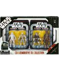 Star Wars Episode V 5 Collectible Tin Action Figure Set THE EMPIRE STRIKES BACK with 4 Action Figures: Snowtrooper, Luke Hoth, Han Hoth & Chewbacca Hoth - Hasbro Star Wars Episode