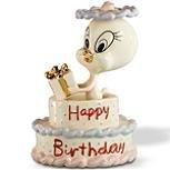 (Lenox Tweety's Happy Birthday Cake Figurine Bird Gift Looney Tunes NEW)