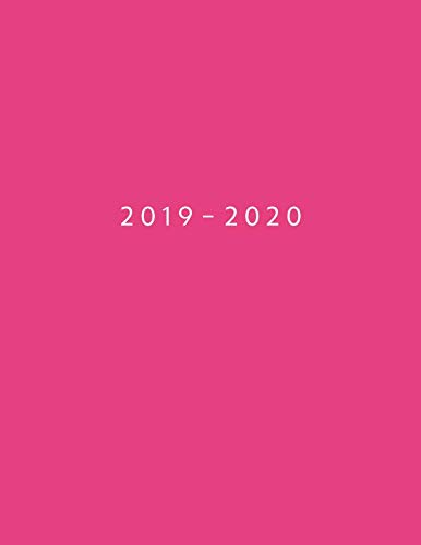 - 2019 - 2020: Weekly Planner Starting June 2019 - May 2020 | Week To View With Hourly Schedule | 8.5 x 11 Dated Agenda | Appointment Calendar | Organizer Book | Melon Pink