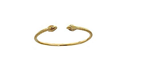 (Better Jewelry 14K Yellow Gold BABY West Indian Bangle w. Bulb Ends (MADE IN USA))