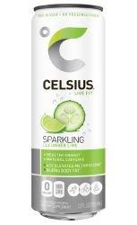 Celsius Sparkling Cucumber Lime, 12 fl oz (Celsius Water)