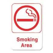 Thunder Group Plis6906rd  Smoking Area  Information Sign With Symbols  6 By 9 Inch