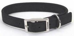 Coastal Pet Products DCP290120BLK Nylon Double Dog Collar, 1 by 20-Inch, Black