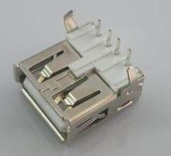 Gimax USB Connector 2.0 Type A Female through hole Right Angle PBT material 1000pcs by UPS