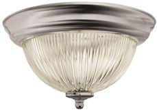 MONUMENT GIDDS-2487028 Halophane Dome Ceiling Fixture, Brushed Nickel, 13-1/2