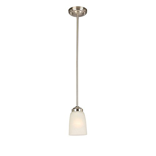 Hampton Bay 1-Light Brushed Nickel Mini Pendant