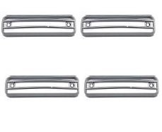 Chrome Side Marker Lamp Blinker Light Bezel Cover Trim Guard Fits: Hummer H2 2003, 2004, 2005, 2006, 2007, 2008, 2009 4 PCS