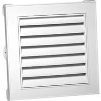 Duraflo 626043-00 12-Inch Square Gable Vent, White