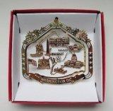 Nations Treasures Washington D.C. Souvenir Christmas Ornament Gift Capitol White House Monuments Memorials