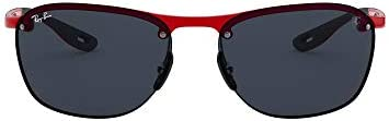 Rayban 0RB4302M F62387 62 Montures de lunettes, Rouge (Red/Dark Grey), Homme