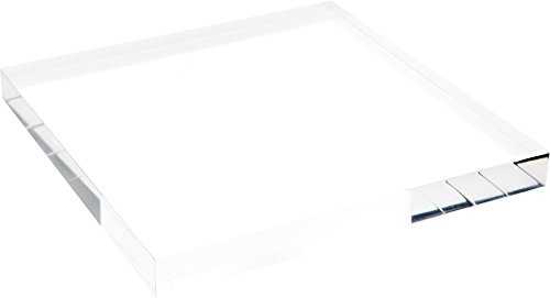 Plymor Clear Polished Acrylic Square Display Block, 1 H x 10 W x 10 D