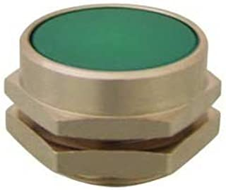 product image for Clippard PC-4F-GN Flush Captivated Push Button, 22 mm, Green