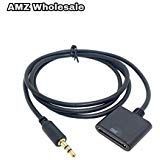 (AMZ Wholesale 30 Pin Female Dock Docking Connection to 3.5mm Male Audio Output AUX Cable, Black.)